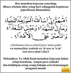 doa memohon kejayaan
