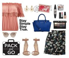 """""""Simple Packing"""" by stephaniefb ❤ liked on Polyvore featuring Miss Selfridge, Gianvito Rossi, Michael Kors, Maybelline, OPI, Benefit, Bobbi Brown Cosmetics, Oscar de la Renta and Marc Jacobs"""