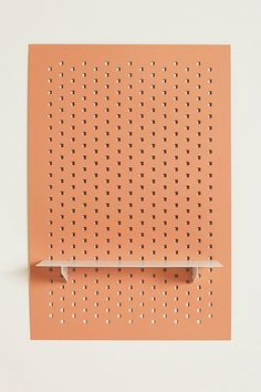 Slide View: 1: Pink Rectangle Peg Shelf