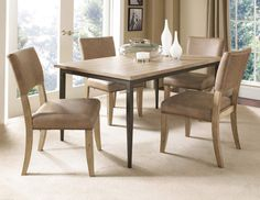 Charleston Rectangle Dining Set W/Parson Chairs 4670-CDB8
