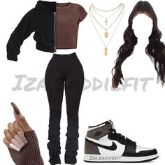 Boujee Outfits, Baddie Outfits Casual, Swag Outfits For Girls, Teenage Girl Outfits, Cute Swag Outfits, Cute Comfy Outfits, Teenager Outfits, Teen Fashion Outfits, Dope Outfits