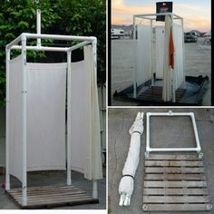 General idea of the outdoor pool shower - ideen - Outdoor Kitchen Ideas Outdoor Pool Shower, Portable Outdoor Shower, Outdoor Toilet, Solar Shower, Camping Diy, Camping Glamping, Camping Hacks, Camping Shower Diy, Camping Kitchen