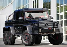 The perfect vehicle to survive a zombie apocalypse, the Brabus B63S. 700hp and 6 wheel drive, more than enough to smash those bastards.