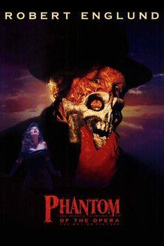 Phantom of the Opera (1989) poster Starring Robert Englund #Horror