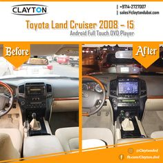 http://www.claytondubai.com #toyota #landcruiser #android #full #touch #before #and #after #navigation #gps #cargps #carnavi #dubai #clayton #car #uae #dvd #cardvd #dvds