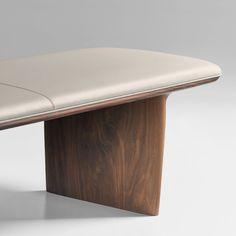 Bernhardt Design - Catia Bench Furniture, Leather Furniture, Furniture Upholstery, Upholstered Chairs, Cheap Furniture, Furniture Design, Leather Chairs, Sofa Chair, White Furniture