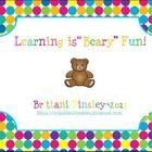 """Learning is """"Beary"""" Fun~ A Unit on Bears"""