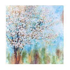 Nan F Solid-Faced Canvas Print Wall Art Print entitled Cherry Blossoms Wall Art Prints, Framed Prints, Framed Art, Cherry Blossom Art, Blossom Trees, Floral Wall Art, Canvas Artwork, Glass Art, Poster