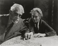 Boris Karloff as Prof. Marcus Monserrat, Catherine Lacey as Estelle Monserrat in Michael Reeves' The Sorcerers, 1967