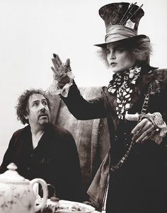 Johnny Depp & Tim Burton //// Easily my favorite picture ever. Would love this blown up and framed.