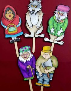 Looking for some really cool Little Red Riding Hood puppets to print? These printable paper puppets include coloring pages versions and full-color ones too! Red Riding Hood Story, Psychedelic Drawings, Paper Puppets, Paper Dolls Printable, Principles Of Art, Red Art, Marker Art, Illustration Art, Food Illustrations