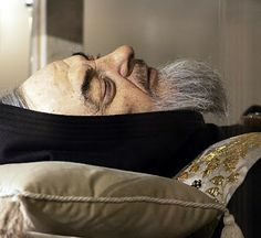 St Padre Pio. Close-up photograph of his incorruptible body exhumed on March 2, 2008, 40 years after his death on September 23, 1968. His remains on display to the public in the Shrine of Holy Mary of Grace in San Giovanni Rotondo, Italy, from April 24, 2008 to September 2009. Padre Pio was a Franciscan Capuchin Catholic priest who bore the five wounds of Jesus Christ (stigmata) on his body visibly for more than 50 years. He was also a seer, mind-reader, prophet, miracle-worker & confessor…