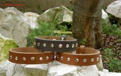 bracciali in cuoio con l'aggiunta di swarovski, chiusura regolabile