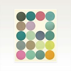 Modern Geometric Art Print Circles I by CassiaBeckCollage on Etsy