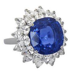 Bulgari 11 Carat Ceylon Sapphire Diamond Ring