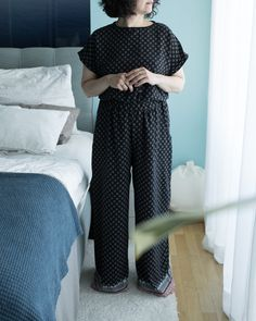 Pyjama nähen - Tweed Tweed, Diy Kleidung, Neue Trends, Jumpsuit, Pants, Shirts, Outfits, Tops, Dresses