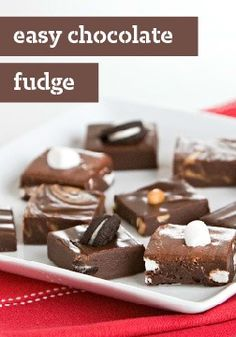 Easy Chocolate Fudge — This fudge is divinely delicious—and way easier than you'd think. Customize the recipe just for your family, with everything from peanut butter to marshmallow.