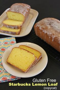 This Gluten Free Starbucks Lemon Loaf copycat is all the flavors of the famous loaf, but in a gluten free version! This is so good you won't know it is gf! Gluten Free Deserts, Gluten Free Sweets, Gluten Free Cakes, Foods With Gluten, Gluten Free Cooking, Dairy Free Recipes, Gluten Free Lemon Cake, Gluten Free Beer, Gluten Free Muffins