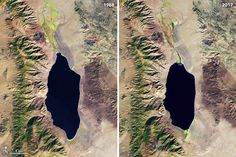 Disappearing Walker Lake : Image of the Day : NASA Earth Observatory
