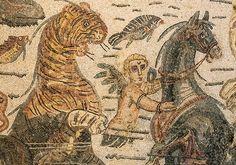 Mosaic in Villa Romana del Casale, Piazza Armerina, Sicily