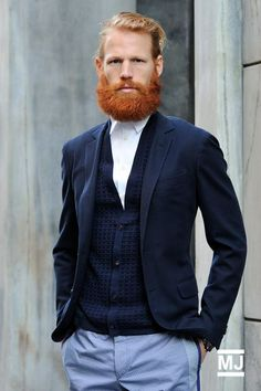 never underestimate the power of a ginger beard. Handsome