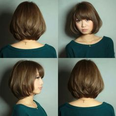 Asian Short Hair, Short Hairstyles For Thick Hair, Short Hair Wigs, Hairstyles With Bangs, Medium Hair Styles, Curly Hair Styles, Cabello Hair, Shot Hair Styles, Great Hair