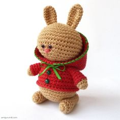 Crocheted Raspberry Bunny