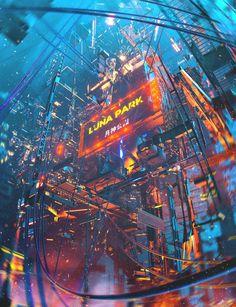 Cyberpunk Aesthetic, Cyberpunk City, Arte Cyberpunk, Futuristic City, City Aesthetic, Arte Sci Fi, Sci Fi Art, City Wallpaper, Scenery Wallpaper