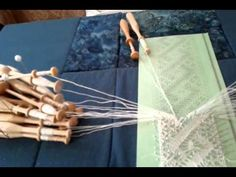 Bobbin lace demonstration (note: in middle she mentions how to add in thread)