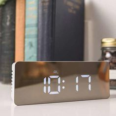 Punctual Fm Radio Alarm Clock Led Digital Electronic Table Projector Watch Time Projection Rotating Thermometer Snooze Desktop Clocks Nourishing Blood And Adjusting Spirit Home & Garden