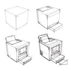 Interior Design Sketches, Industrial Design Sketch, Sketch Design, Line Sketch, Sketch A Day, Isometric Sketch, Interior Door Trim, Sketches Tutorial, Object Drawing