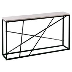 Create a style manifesto with the Aiden Lane Arendale Faux Marble Skinny Console Table. This metal and faux marble console table slides under your wall mounted TV or becomes an entryway table in your foyer. Skinny Console Table, Marble Console Table, Console Tables, Hall Tables, Home Depot, Mercury, Faux Marble Coffee Table, Wall Mounted Tv, Living Room Furniture