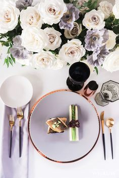 WedLuxe – Luxe Industrial   Photography by: Samantha Ong Photography Follow @WedLuxe for more wedding inspiration! Table Setting Inspiration, Wedding Inspiration, Wedding Ideas, Industrial Wedding, Modern Industrial, Wedding Table Deco, Centerpieces, Table Decorations, Industrial Photography