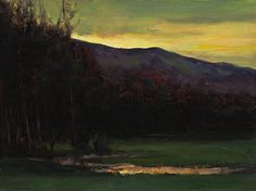 Sunset over the Valley, Dennis Sheehan. American, born in 1950.