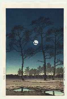 Field of Toyama, 1931 by Kawase Hasui (1883 - 1957)