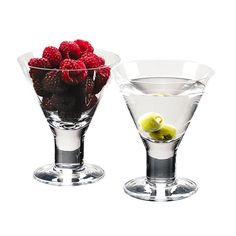 Caprese Martini Glasses - Love these new thick stemmed martini glasses!  Great for a light dessert too.