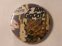 """Easter Basket Sale// Comic Book 1.5"""" Button// Guardians of the Galaxy// Groot, $0.75"""