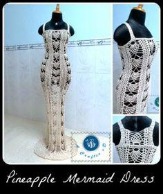 Pineapple Mermaid Dress ~ Maz Kwok�s Designs