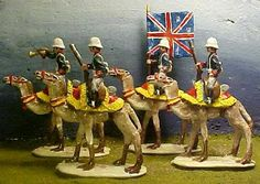 British Grenadier Guards Riding Camels Sudan 1884 54mm Pope Toy Soldiers