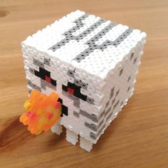 Ghast Minecraft perler beads by shena_1983