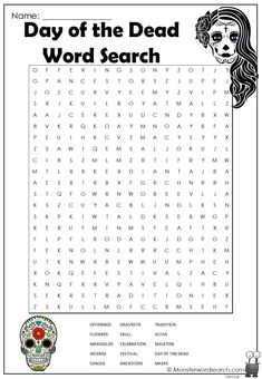 Halloween Word Search, Halloween Words, Summer Daycare, Kids Word Search, Free Printable Word Searches, Character Words, Social Studies Worksheets, Teaching Time, Word Puzzles
