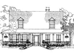 Farmhouse House Plan with 2139 Square Feet and 3 Bedrooms from Dream Home Source | House Plan Code DHSW16009
