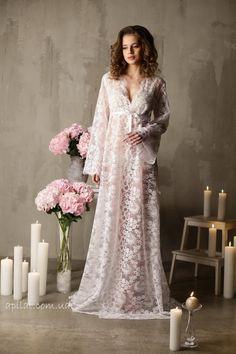 7cb4579ab8f21 Long Lace Bridal Robe F3(Lingerie