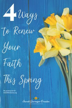 Spring cleaning isn't only for your home, it's for your faith too. Learn 4 practical ways to renew your faith this spring. Women Of Faith, Faith In God, Hope In Jesus, Christian Meditation, Christian Friends, Identity In Christ, Strong Faith, Meditation For Beginners, Feel Like Giving Up