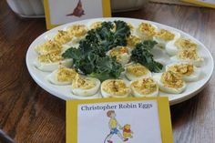 Christopher Robin Eggs (and other labeled food!)
