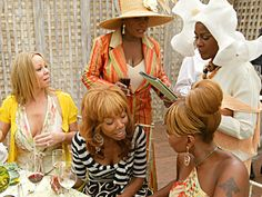 Mariah Carey, Brandy, Patti LaBelle, Mary J. Blige and Cicely Tyson at the Legends' luncheon