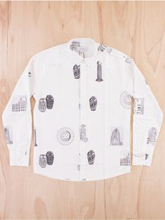 Soulland Reeda Shirt in White at CRNFRD