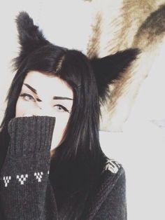 Wolf ears Pastel Blue Hair, Lilac Hair, Green Hair, Indie Scene, Emo Scene, Leda Monster Bunny, Red Scene Hair, Wolf Tail, Leda Muir