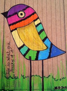 Original Art SFA BiRd LiFe Recipe #6 RAiNBoW WhiMSy FoLk Outsider  on Ebay