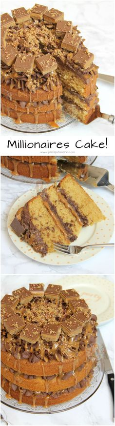 & Three Layer Caramelly Sponges with Chocolate Buttercream Frosting, Gooey Caramel, and Mini Shortbread Bites is part of Shortbread cake - Yummy Treats, Sweet Treats, Yummy Food, Chocolate Buttercream, Buttercream Frosting, Cupcake Frosting, Baking Recipes, Dessert Recipes, Desserts